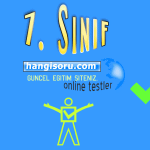 7. Sınıf Atasözleri Testi Çöz 2